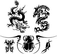 Happy Dragon Tattoo
