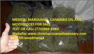 Medical Marijuana and Cannabis oil for sale